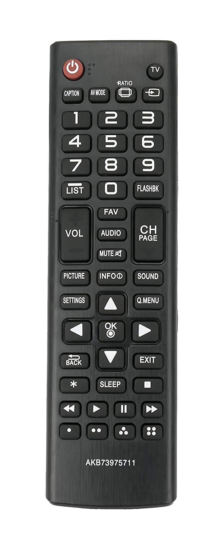 New AKB73975711 Replace Remote fit for LG TV 22LY340C 29LY340C 32LB520B 32LB520BUB 32LB520B-UB 32LB550B 32LB550BUC 32LB550B-UC 32LB5600 32LB5600UH 32LB5600-UH 32LB560B 32LB560BUH 32LB560B-UH 32LF500B