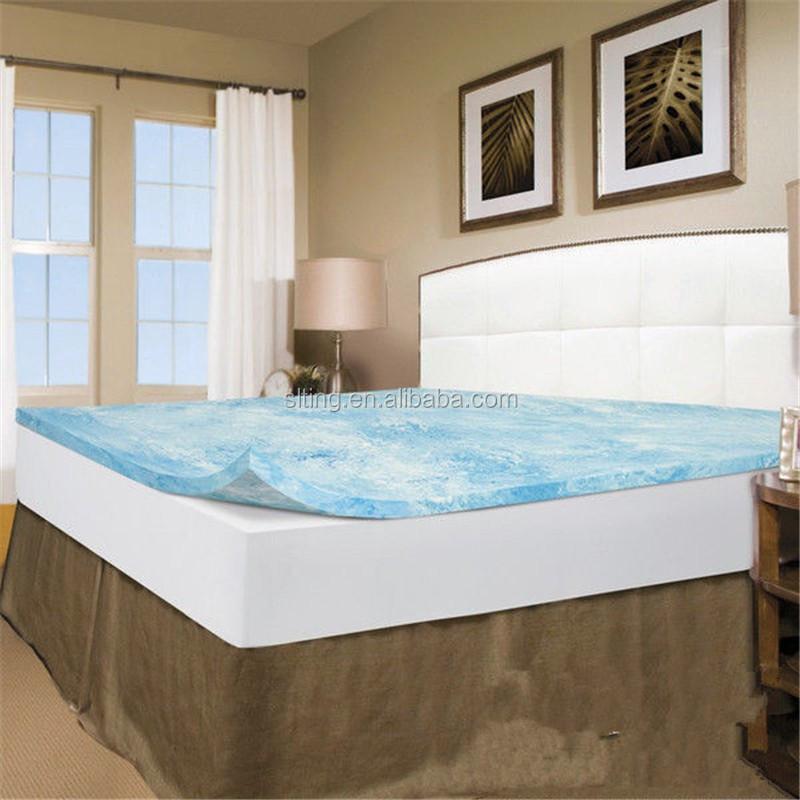 Memory Foam Bed Mattress 2 Inch Topper Cover Pad Bedroom 5 Zone Gel