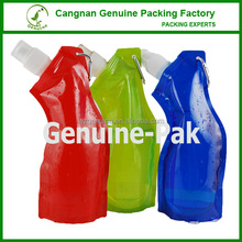 HOT sale custom attachable foldable water bottle of oblique mouth