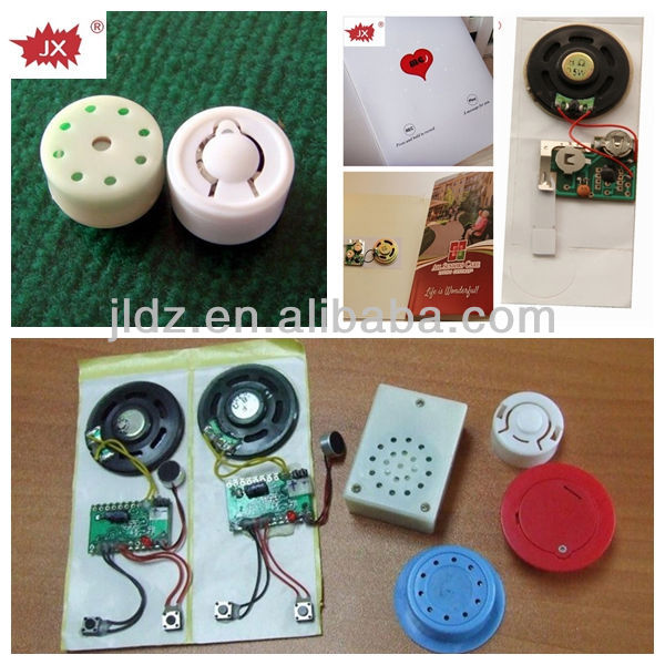 Musical voice chip for moving baby toys, keychain, electronic books plush toys/music device with customized, recordable voice