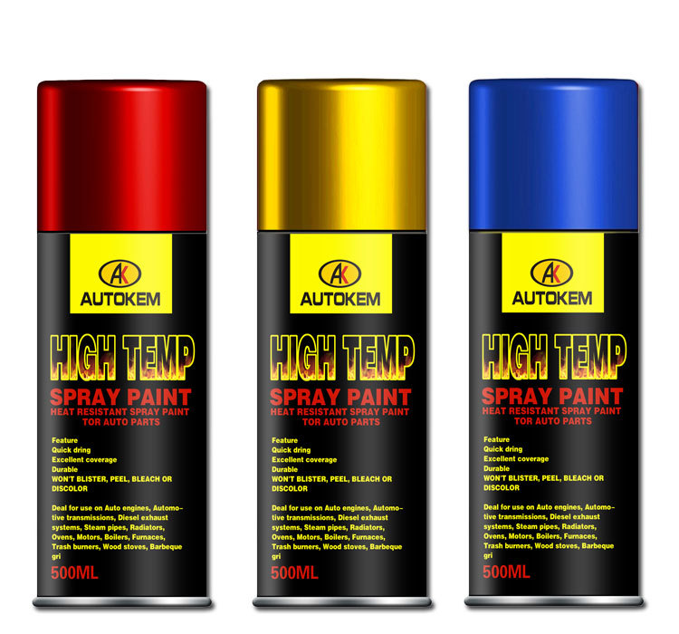 Heat Resistant Spray Paint Satin Black