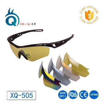 Hot selling sport cycling sunglasses eyewear set with five interchangeable lenses for outdoor
