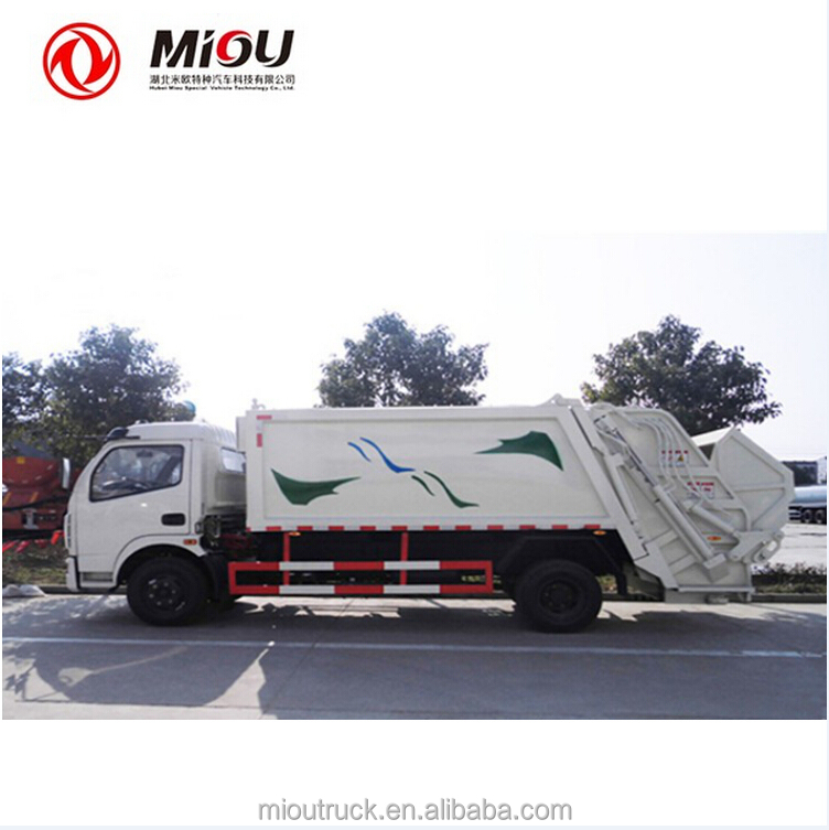 Dongfeng Quality 4X2 garbage truck with garbage truck diesel garbage compactor truck isuzu for sale