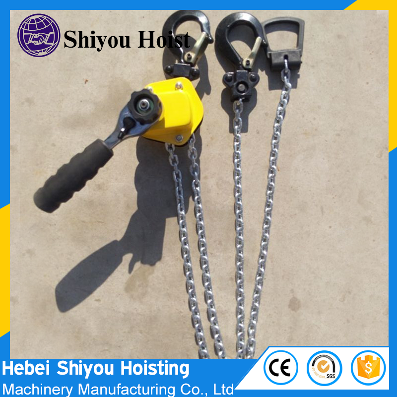 Competitive price Mini hand chain hoist manual lifting crane lever chain block