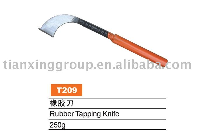 Rubber tapping knife