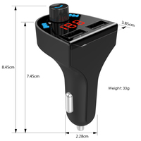 2018 Amazon Best Seller Car Bluetooth FM Transmitter Wireless MP3 Car Player With TF Card U Disk