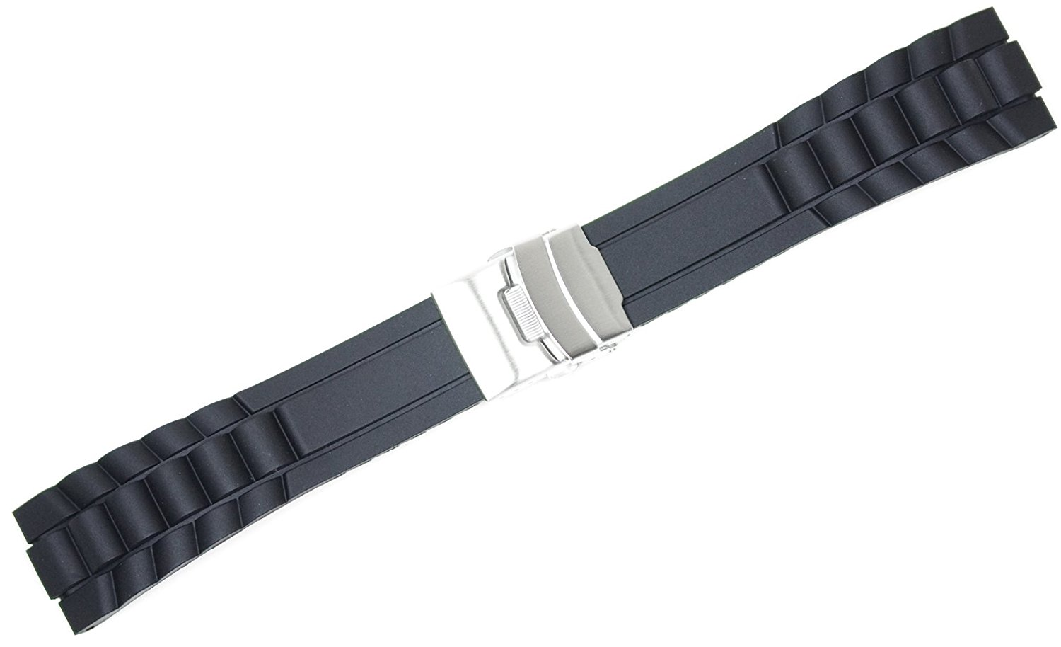 Oyster Style Divers Clasp Watchband - 20mm