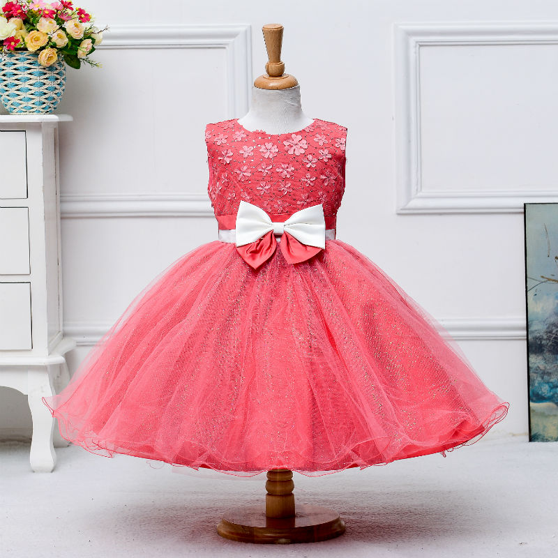 2017 New arrival evening gown kids lace wear girl wedding party ...