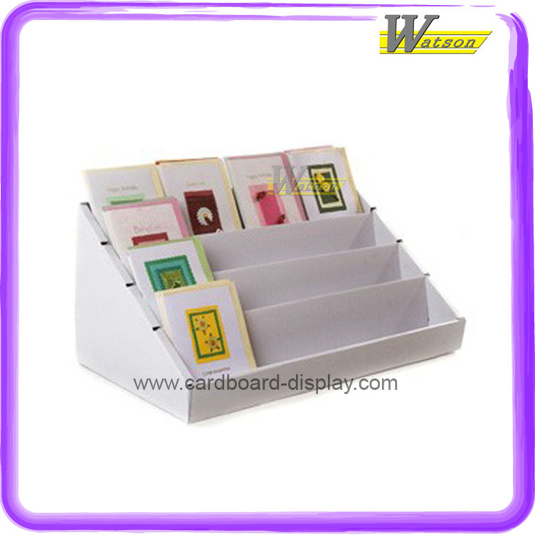 Pop Cardboard Counter Display for Greeting Cards or Holiday Gift Cards with Customized Designs
