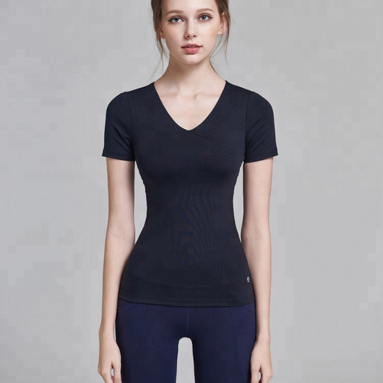 Dry Quick Gym Yoga T-Shirt Women's Sport Tees for Running Gym Fitness Apparel Clothes Tops for Woman