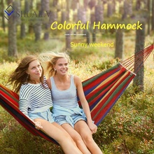 Outdoor Portable Hammock Camping Yoga Hammock Canvas Inflatable Hammock Chair With Stand