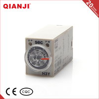 QIANJI 2016 Wholesale China H3Y-2 220V 2Z 4Z Double Delay Time Relay Digital