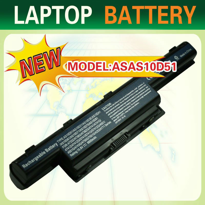 External laptop battery for ACER AS10D41,AS10D51,AS10D61