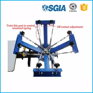 Good quality 4 color 1 station silk screen printing machine t-shirt printer press equipment machine