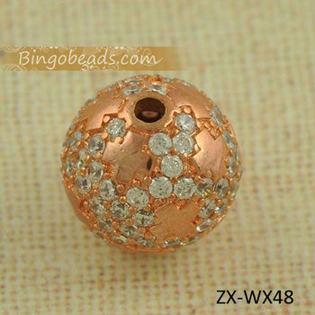 Modeschmuck 10 MM Rose GOld Disco Kristallkugel Perlen 2 MM Loch Fit DIY Braid Charms Armband