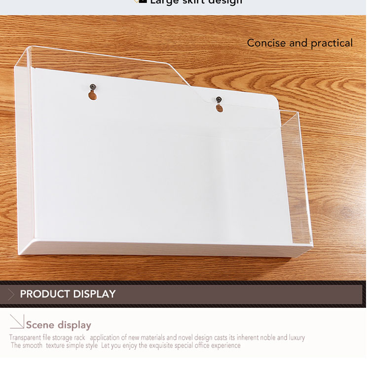 Factory Wholesale Customize Office Stationery A4 clear file folder document holder acrylic file folder holder