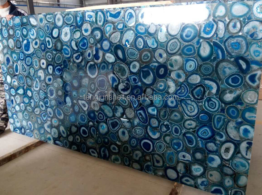 Gemstone slab Blue Agate