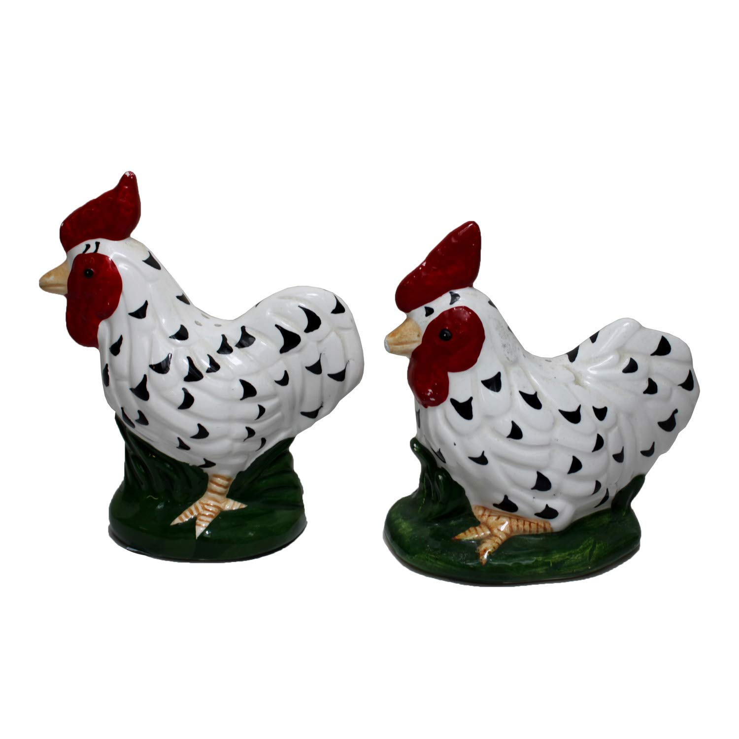 Rooster Kitchen Decor Salt and Pepper Shakers Set in Vintage Look Chicken Wire B