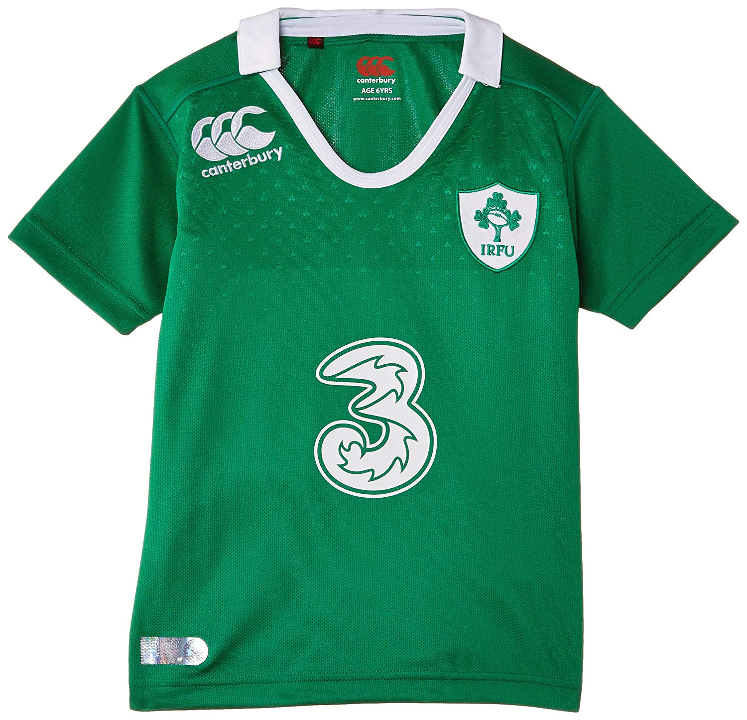 Canterbury 2014-2015 Ireland Home Pro Rugby Shirt (Kids)