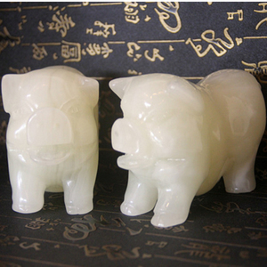 Indoor decoration,chinese carved white jade