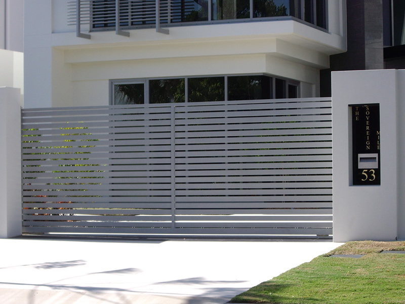 Aluminium Home Sliding Gate Designs For Homes