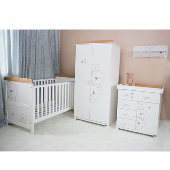 Yibang New Wood Baby Bed Bedroom Furniture Set Unique Bamboo Crib 2017 Solid Product On