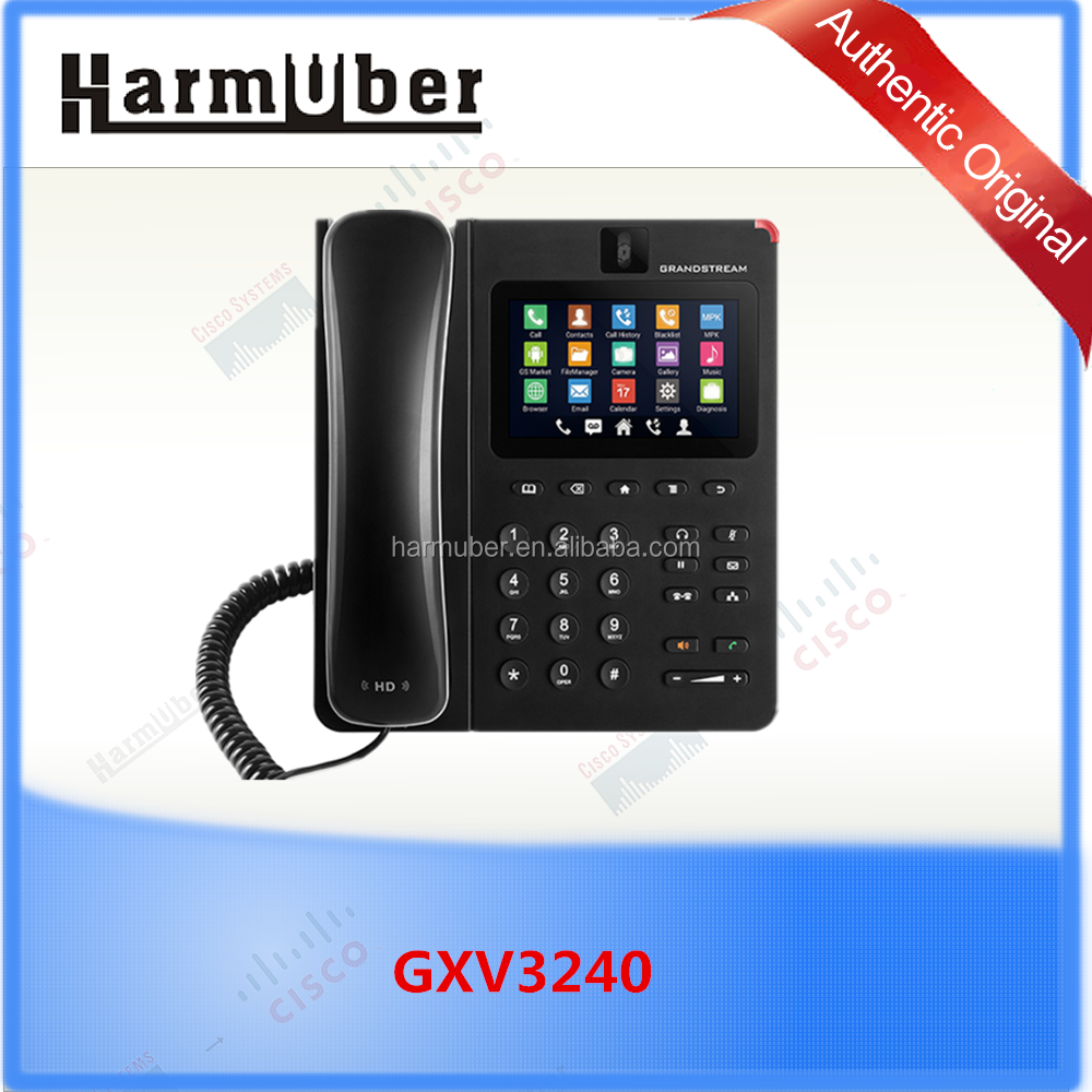 Grandstream GXV3240,6 lines 6 SIP accounts VoIP Video Phone with Android