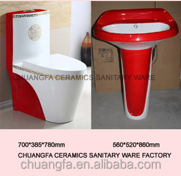Ceramics decorated sanitary ware toilet water closet
