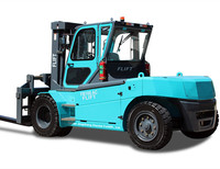 10 ton 4 wheel electric forklift trucks with Curtis control system for sale