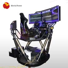 Crazy Stad 9D Vr Auto Game Machine Virtual Reality Simulatie Ritten Hydraulische Racing Driving Motion Simulator Prijs