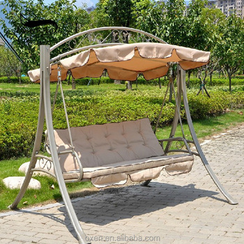 Outdoor Double Seat Swing Chair Balcony Rocking Chair Courtyard Table Iron  Art Adult Swing
