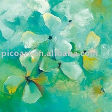 flower canvas oil painting,Floating Flowers