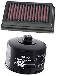 K&N Motorcycle Air Filter + Oil Filter Combo 2010 2011 BMW HP2 Megamoto BM-1204 + KN-164