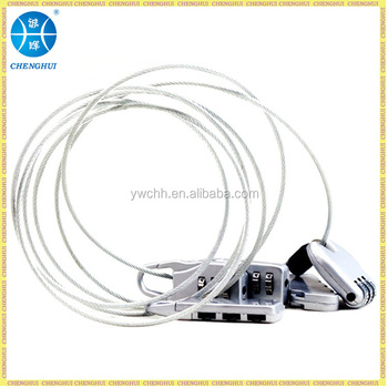 Wire Steel Cable Lock Combination Lock With Long Cable For ...
