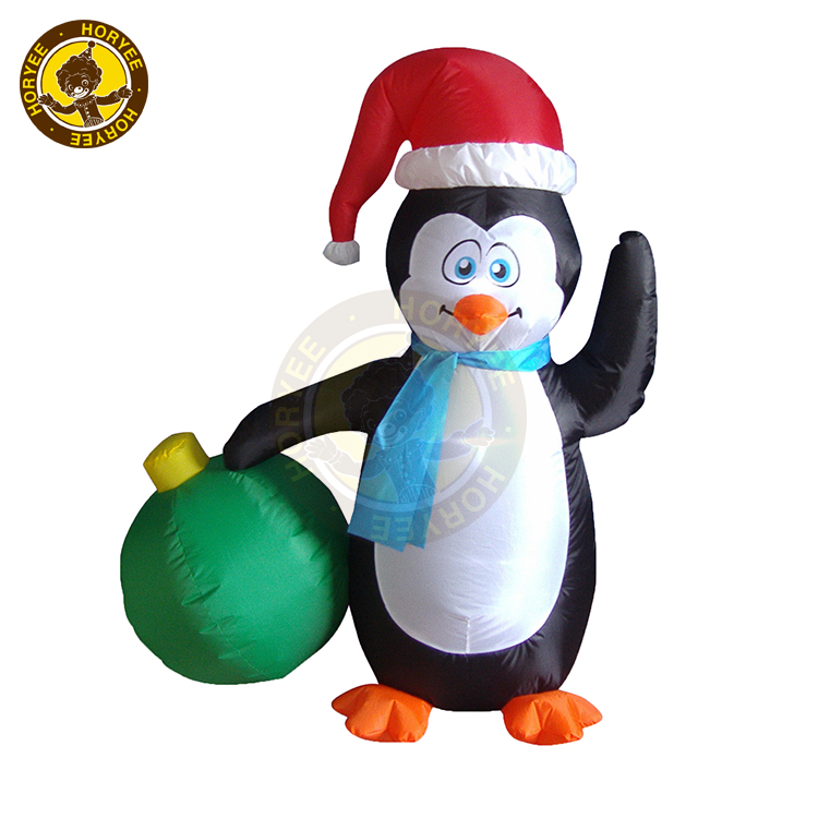 4ft Christmas Decoration Inflatable Peaguin, Air blown Christmas Decoration Peaguin