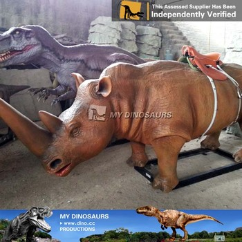 My-dino battery operated mechanical stuffed rhinoceros ride