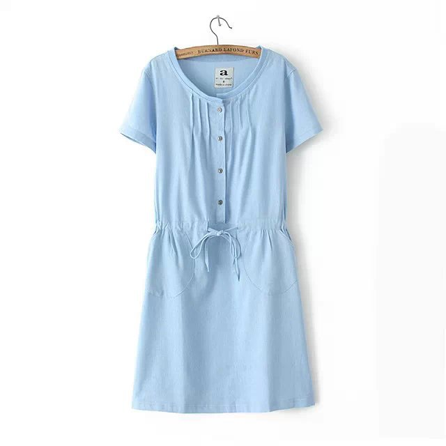 147dc40751 Get Quotations · 4 Colors Summer women Dress 2015 New Fashion Linen Dress  Cotton Linen Dress Plus Size Casual