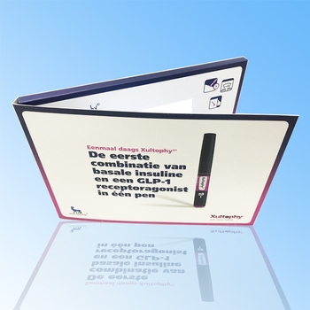 Topfoison video brochure/video card 4.3inch 480*272 lcd video brochure card for promotion