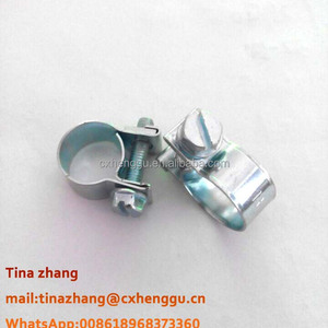 9mm band width 11-13mm zinc plated carbon steel mini gas hose clamp