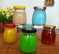 200ml glass pudding jar jam sauce glass bottle