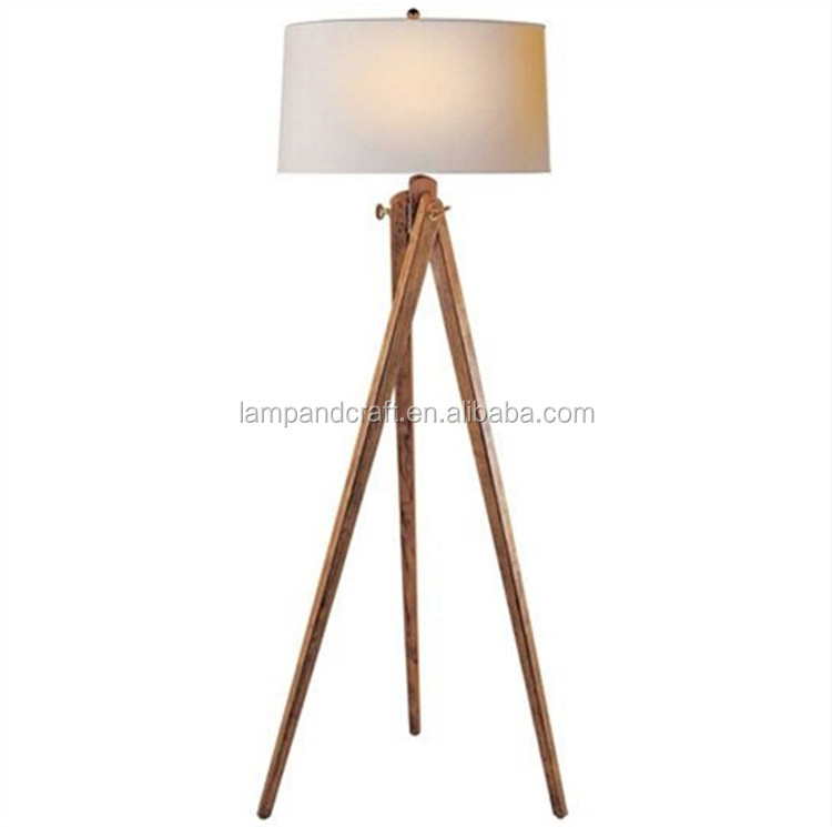 2015 Top Selling Natural Wooden Tripod 3 Legs Floor Lamp With ...