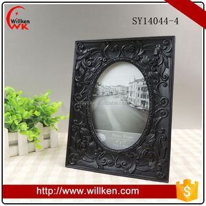 Resin Ornate Antique Embossed Picture Photo Frame Black