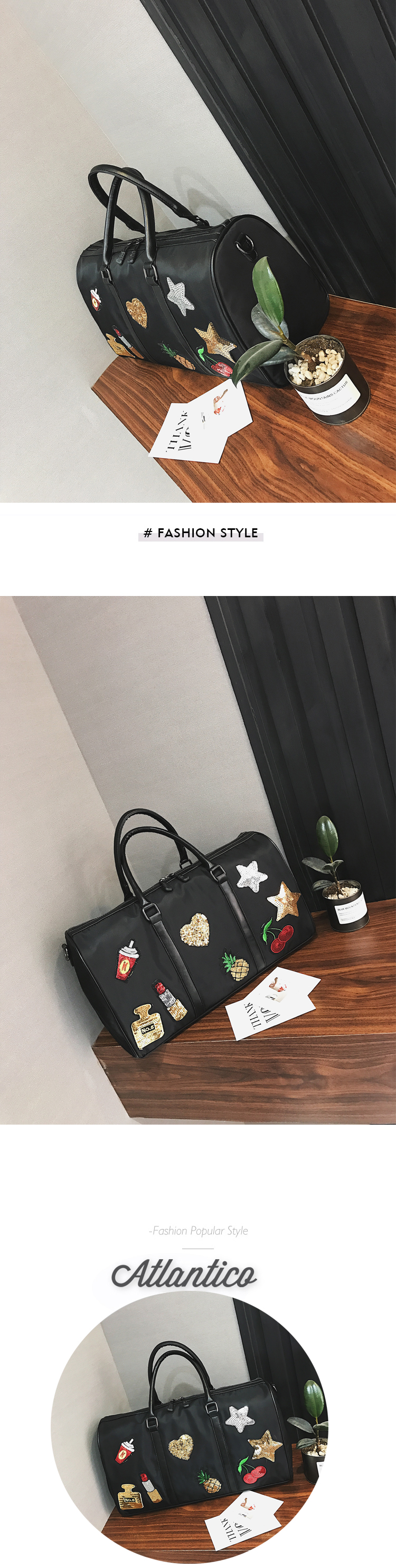 South Korean edition sequined Oxford cloth single shoulder bag New travel women's bags for 2017