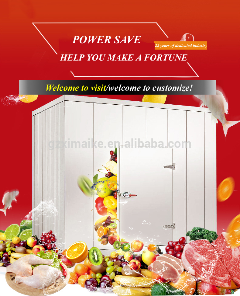 Cold Storage Cold Room Cooling System , Blast Freezer Room For Meat And Fish