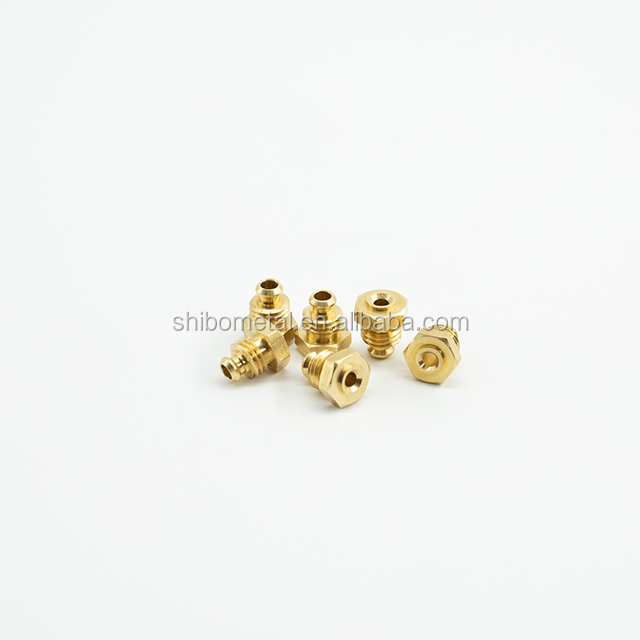 China customized turning part of heavy hexagon copper nut design by cnc turning parts dongguan automatic device