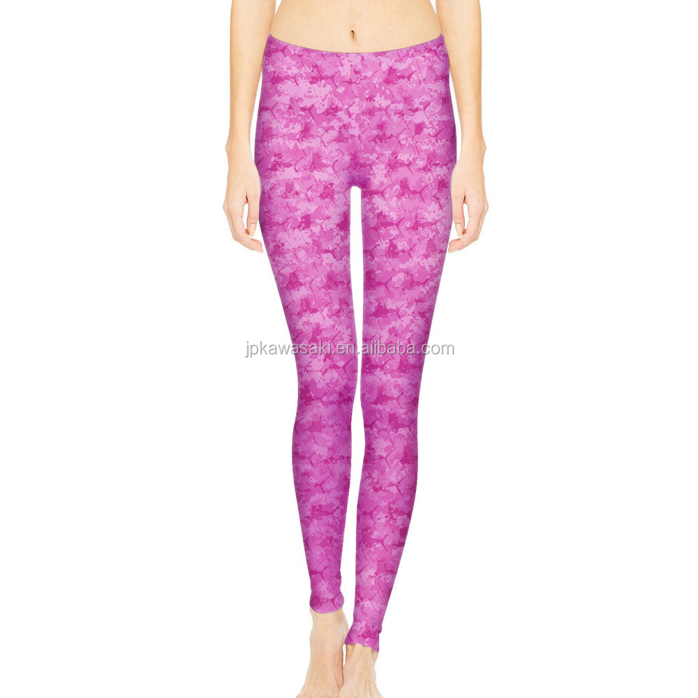 latest Sublimation printing 100% Polyester fitness yoga wear and  pants
