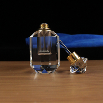 Clear Crystal Design Your Own Perfume Attar Bottle With Glass Stick