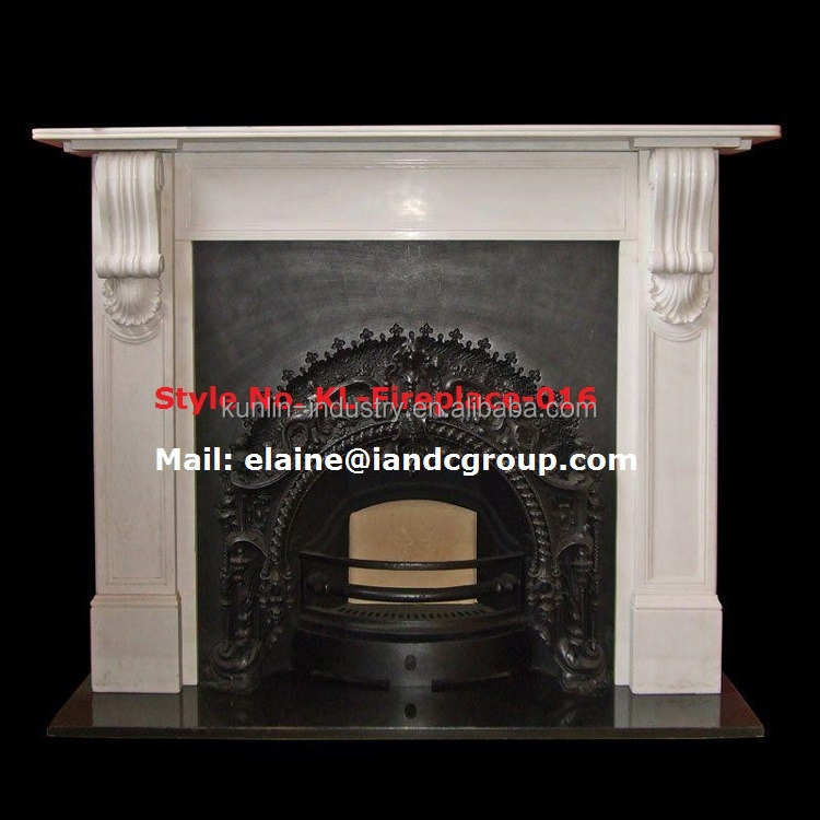 Cheap White Marble electric Indoor Fireplace