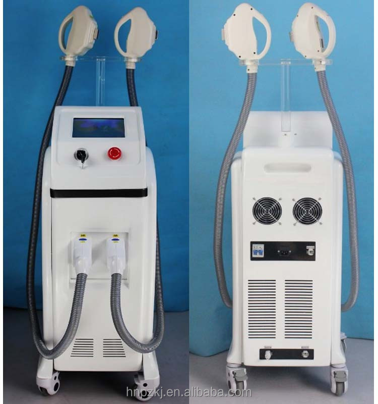 2016 high tech double handles IPL+SHR hair removal beauty machine with CE approved / SHR hair removal / permanent hair removal