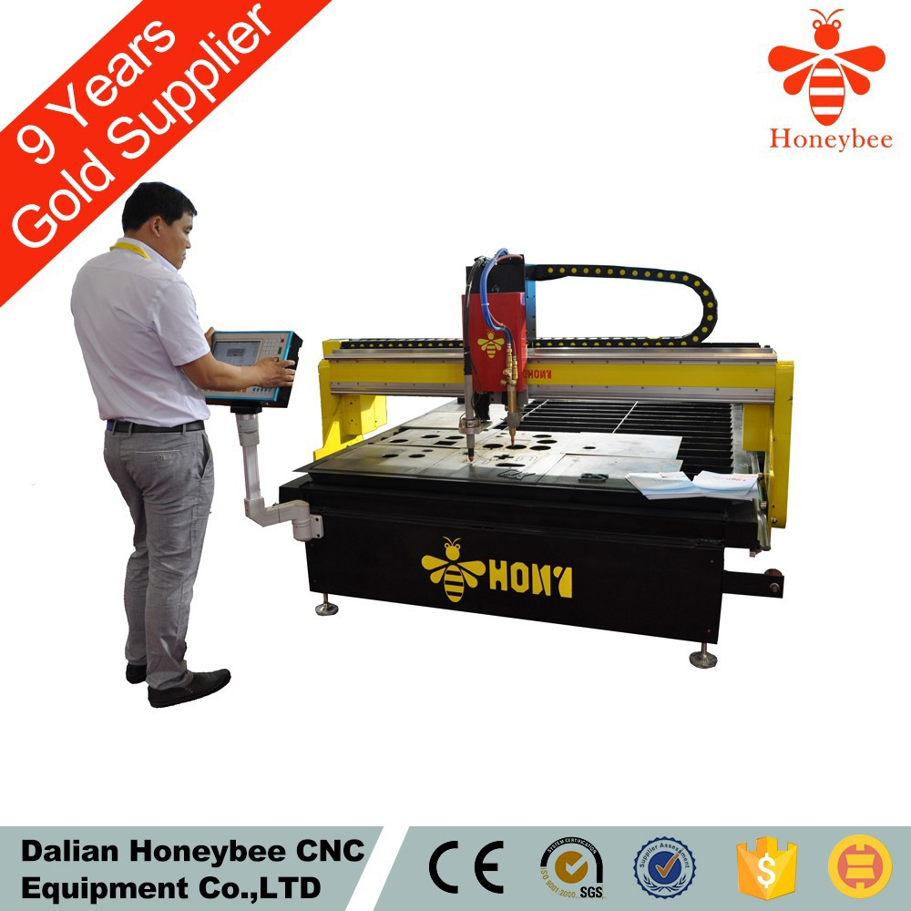 Table type cnc cutting machine with plasma torch height controller and anti collission device